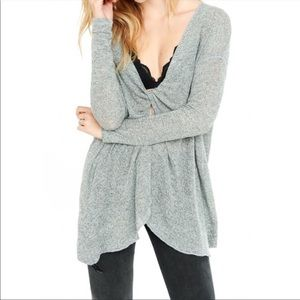 Express One Eleven Reversible Twist Sweater.Size S